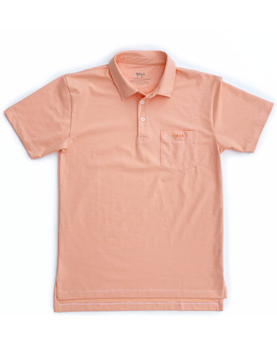 Melon Mini Stripe Performance Polo
