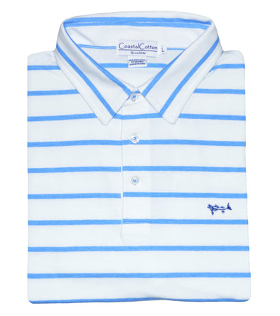 Coastal Cotton Clothing - Polos - Provence Blue Player Polo