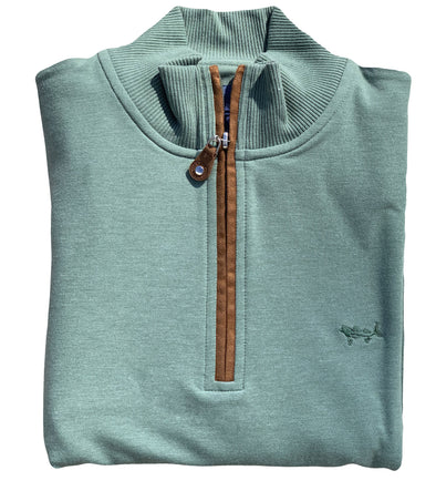 Spruce Green Performance Quarter Zip