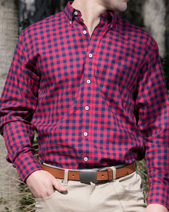 Navy/Red Iconic Plaid All Cotton