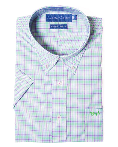 Coastal Cotton Clothing - Sport Shirt - Seascape Stretch Fabric