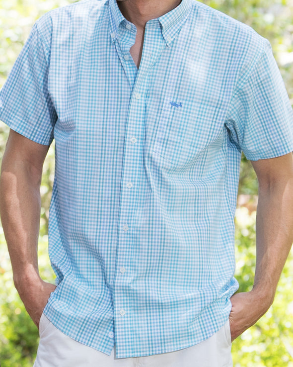 Coastal Cotton Clothing - Sport Shirt - Sea Mist Stretch Fabric