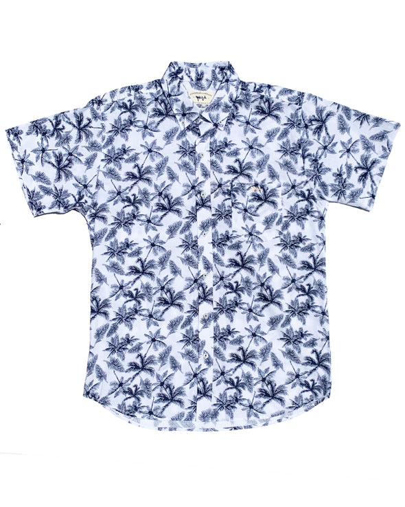 Tropical Print Short Sleeve