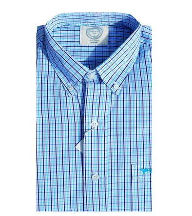 Coastal Cotton Clothing - Wovens - Turquoise Check