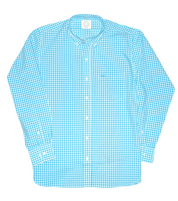 Coastal Cotton Clothing - Wovens - Turquoise Gingham