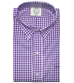 Coastal Cotton Clothing - Wovens - Purple Gingham