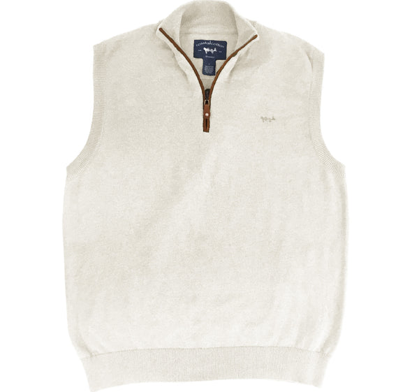 Coastal Cotton Clothing - Quarter Zip - White Cap Quarter Zip Vest