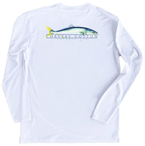 White Yellowtail Performance Tee Long Sleeve