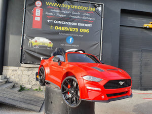Ford Mustang 12 volts monoplace Rouge