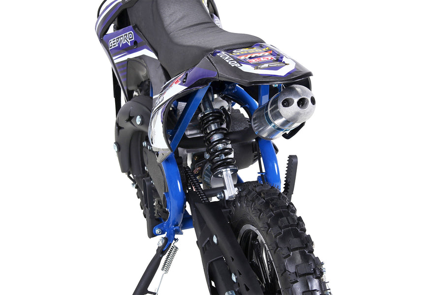 Moto Dirt 49 cc Gepard 2 temps Taille 6/10 ans