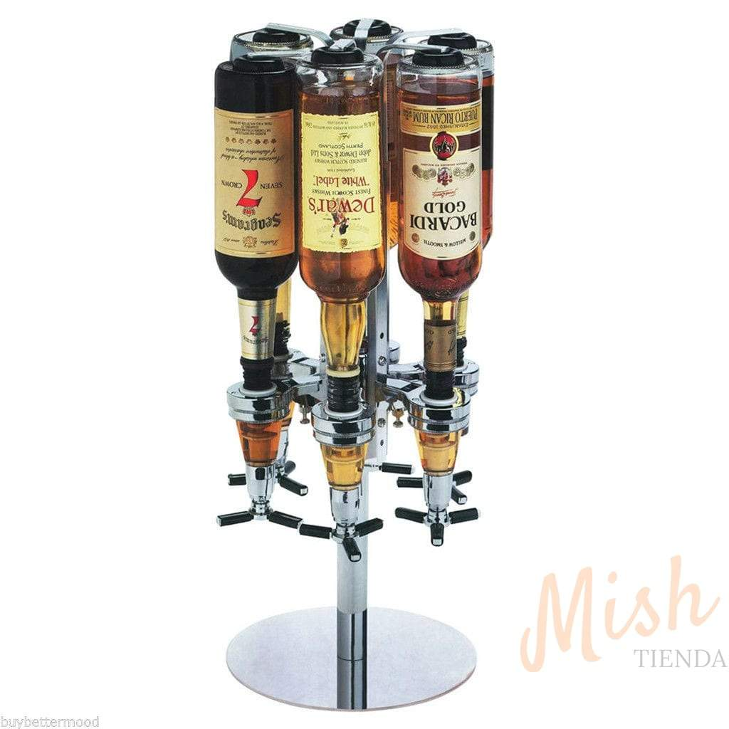 Dispensador para 6 botellas giratorio - Tienda Mish!