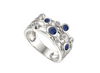 Sapphire and Cubic Zirconia Bubble-Scatter Ring 9234S