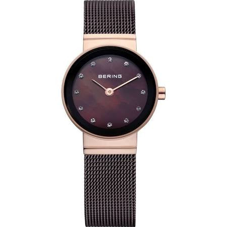 Bering Ladies Steel Rose and Brown Classic Watch 10122-265