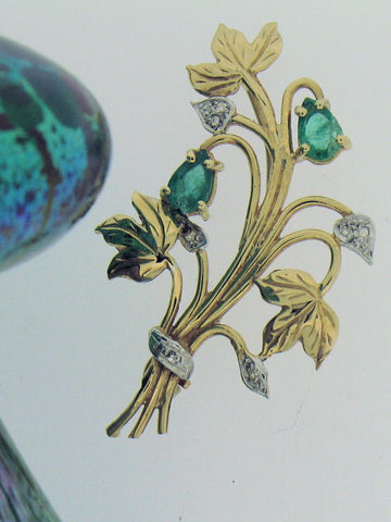 Emerald Bouquet Brooch 110