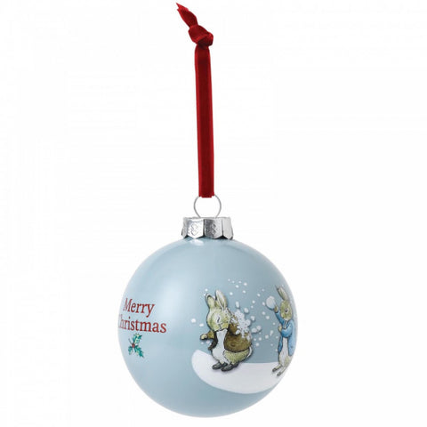 Peter & Benjamin's Snowball Fight Bauble A29524