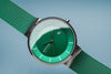 Bering Gents Green Classic Milanese Strap Watch 14539-808