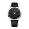 Bering Gents Ultra-Slim Black Strap Watch 17039-402