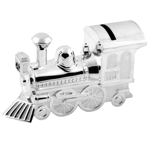 Silver Plated Locomotive Money Bank 2249