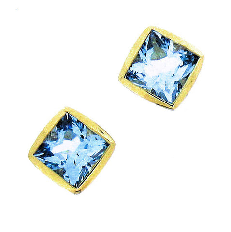Blue Topaz 9ct Sud Earrings 9S1025