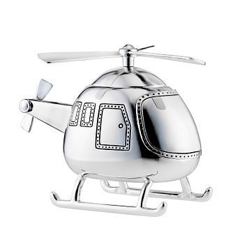 Silver Plated Helicopter Money Bank 2839