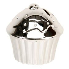 Silver Plated Cup-Cake Money Bank 2866