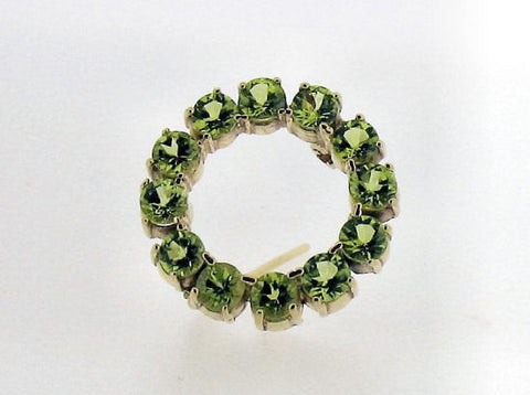 Peridot and Gold Brooch 31582
