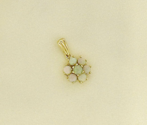 Opal Cluster and Gold Pendant 32065