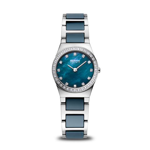 Bering Ladies Grey Ceramic and Polished Silver Steel Watch 32426-707