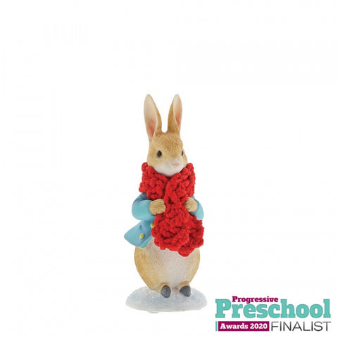Peter Rabbit in a Festive Scarf Figurine A30179
