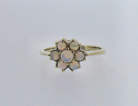 Opal Cluster 9ct Gold Ring 41702