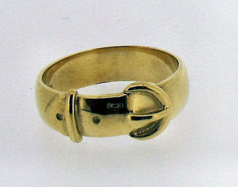 Gold Gents Buckle Ring No49