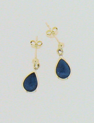 Turquoise and Silver Teardrop Earrings 52750