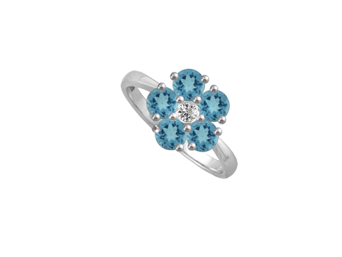 Blue Topaz Silver Ring 6041