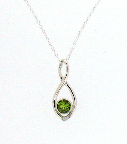 Peridot Silver Pendant on Chain 66026