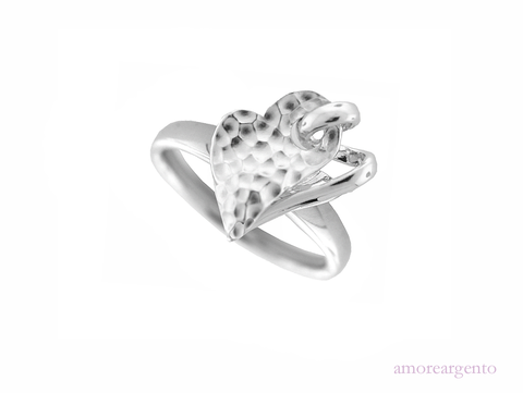 Silver Heart Ring 6765