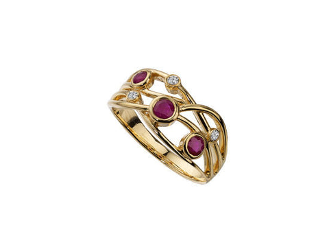 Ruby and Diamond Gold Ring 6831