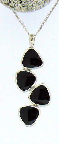 Whitby Jet & Silver Pendant 68350
