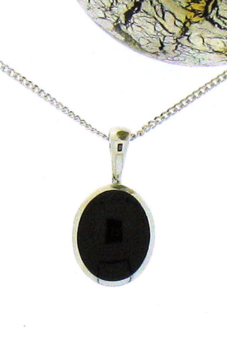 Whitby Jet and Silver Pendant 68407