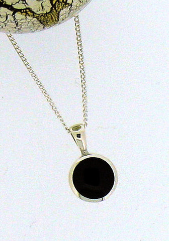 Whitby Jet and Silver Pendant 68408