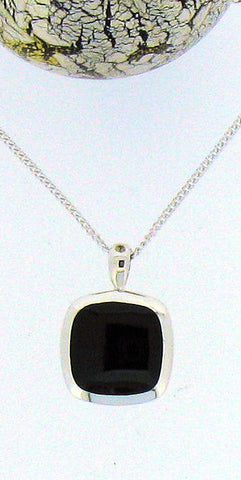 Whitby Jet & Silver Pendant 68429