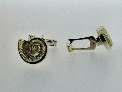 Silver Ammonite Cufflinks 74202