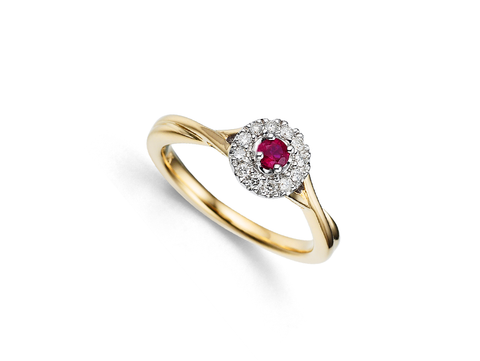 Ruby and Diamond Gold Ring 7825