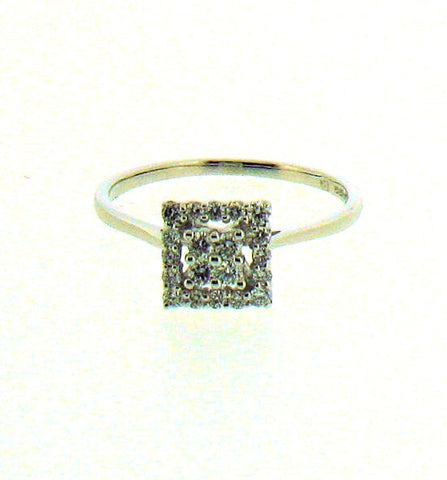 Diamond and White Gold Ring 8822