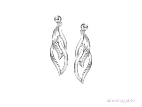 Silver Drop Earrings 9022
