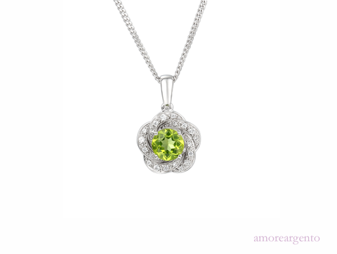 Peridot and Silver Pendant 9095