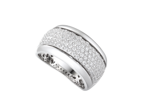 Cubic Zirconia Silver Ring 9148
