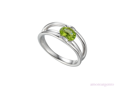 Peridot and Silver Ring 9209SIL/PER