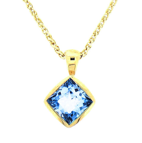 Blue Topaz 9ct Gold Pendant 9P1025BTF