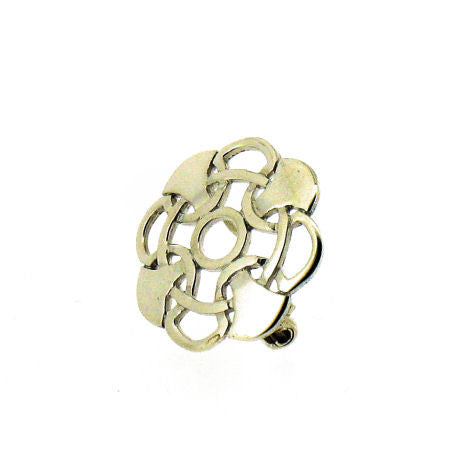 Silver Medium Octofoil Brooch A B 02