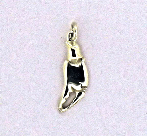 silver large crab claw charm A C 2-7